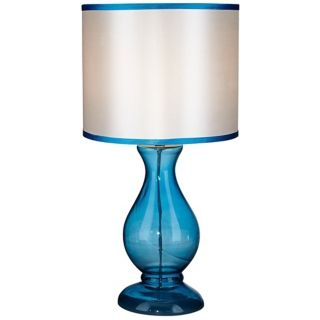 Contemporary Blue Glass Table Lamp   #W9278