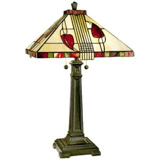 Henderson Tall Cream Glass Dale Tiffany Table Lamp   #84937