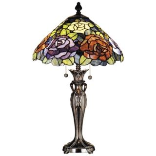 Dale Tiffany Battersby Art Glass Table Lamp   #K1852