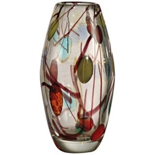 Dale Tiffany Lesley Hand Blown Art Glass Vase   #X4827