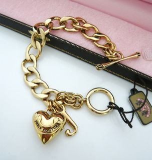 Auth Juicy Couture Gold Starter Charm Bracelet $48