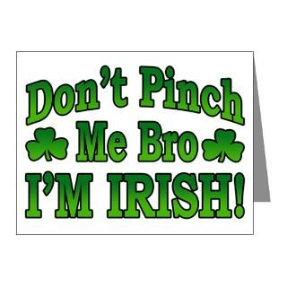 Baby Note Cards  Dont Pinch Me Bro Im Irish Note Cards (Pk of 10