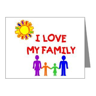 Family Love Note Cards  I Love My Family Note Cards (Pk of 10
