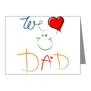 Gifts  Baby Note Cards  We Love You Dad Note Cards (Pk of 10