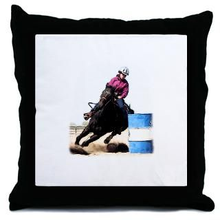 Barrel Racing Pillows Barrel Racing Throw & Suede Pillows