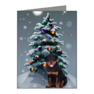 Rottweiler Christmas Thank You Note Cards
