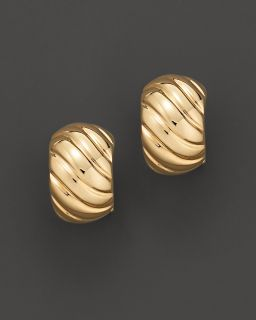 Roberto Coin 18 Kt. Yellow Gold Ribbed Earrings