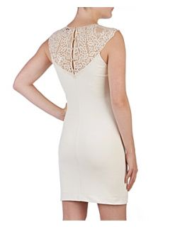 Ted Baker Violina lace trim dress Ecru