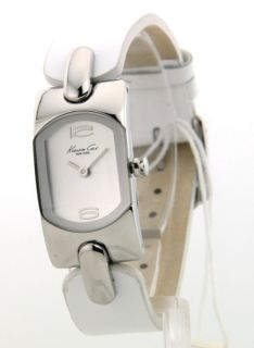 Kenneth Cole KC2287 Watch Womens White Casual Leather New