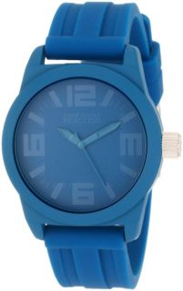 Kenneth Cole Reaction Womens Round Analog Blue Dial Silicone Strap