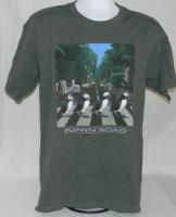 Penguin Beatles Abbey Road T Shirt LG Green Seattle Aquarium