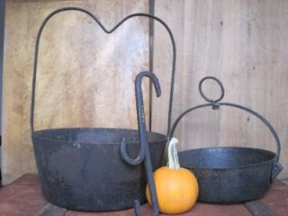 Antique 1760 1820 Wrought Iron Hearth Kettle Pot Hook Colonial Cast