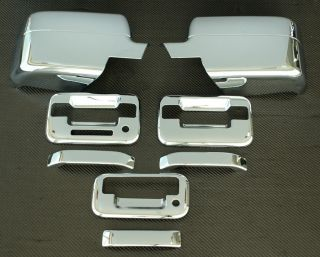 2004 2008 Ford F150 3D Chrome Door Handle Mirror Tailgate Covers 2