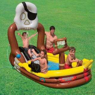 play center kids inflatable pool 57133ep new includes water slide