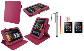 View Leather Case Cover with Stylus LCD for Kindle Fire HD 7