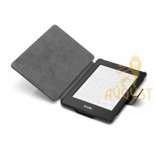 BROWN THIN LEATHER CASE COVER FOR KINDLE PAPERWHITE, SCREEN PROTECTOR