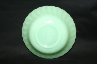 Vintage Fire King Jadeite 6 Bowl Swirl Shell Pattern