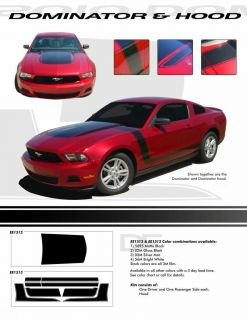 BOSS STYLE Hood Stripes Decals RED * 3M PRO Vinyl Graphics for 2011