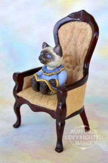 OOAK Miniature Ragdoll Kitten 1 12 Scale Original Folk Art Cat Doll