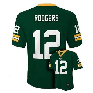 Aaron Rodgers Green Bay Packers Kids Boys NFL Youth Jersey Medium
