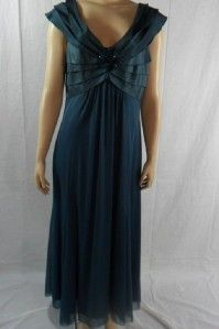 KM Collections Sz 14 Long Mother of Bride Dress Formal Gown New $198