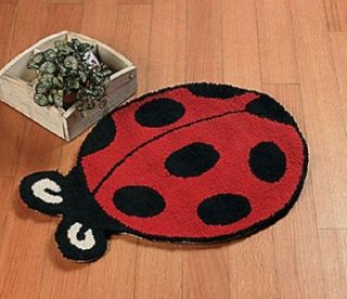 LADYBUG RUG COTTON INDOOR RUG NEW
