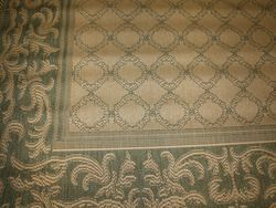 New Indoor Outdoor Rug Garden Lattice Green Sage Tan Couristan Recife