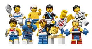 Lego Minifigures Team GB Complete Set of 9 London 2012 Olympics All