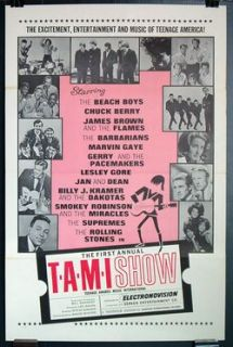 The Tami Show 1964 Rolling Stones Marvin Gaye James Brown Super RARE