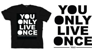 only live once T SHIRT drake hip hop lil wayne S XXXL MENS womens kids