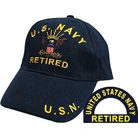 United States Navy Retired Blue Hat Cap USN