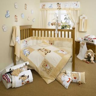 Safari Animal Patchwork Neutral Baby Crib Bedding for Boy or Girl