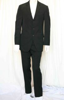Yves Saint Laurent Rive Gauche 3 Button Mens Black Blazer Jacket Pant