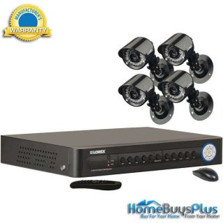 Lorex LH114501C4 4 Channel 500 GB DVR with 4 Color Security Cameras