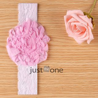 Lovely Girls Baby Infants Toddlers Hair Decoration Lace Flower