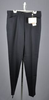 Luciano Carreli Mens Black Wool Flat Front Dress Pants Size 38