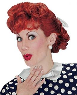 Lucille Ball I Love Lucy Red Curly Adult Costume Wig