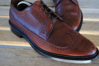 Mens Allen Edmonds MacNeil Dress Shoes Wingtips Brogues Sz 10 D Superb