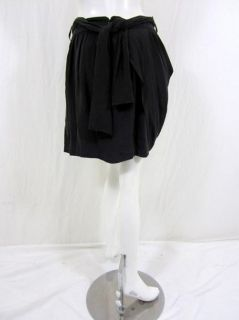 Madison Marcus Womens Gilt Black Silk Skirt s $242 New