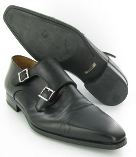 Magnanni Buckle Dress Shoes Black Mens Size 12 M Used $295