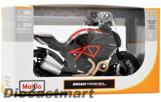 Maisto 1 12 Ducati Diavel Carbon New Diecast Model Motorcycle Black