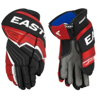 Easton Stealth 85s Senior Hockey Gloves Black Red White 14 Inch