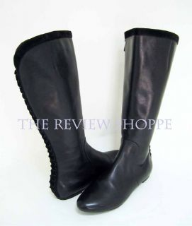 Maria Sharapova by Cole Haan Air Swan Black Leather Knee Boots 8 5B