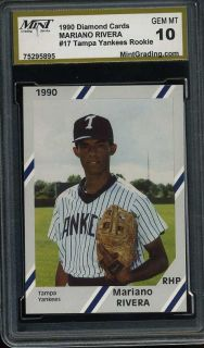 Mariano Rivera 1991 Fleer ProCards MGS 10 Rookie Gem
