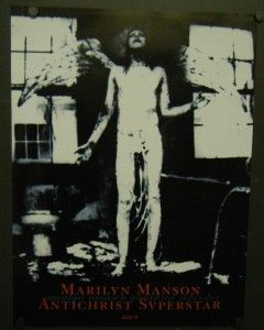 Marilyn Manson Promo Poster Antichrist Superstar 1996 Tourniquet