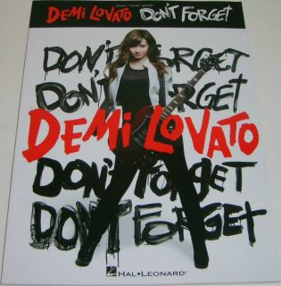 Demi Lovato DonT Forget Piano Vocal Guitar Song Book
