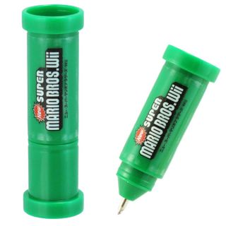 Super Mario Bros Wii School Stationary Green Pipe Pen