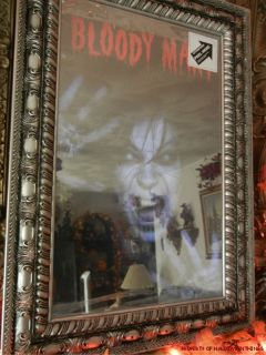 ANIMATED VINTAGE BLOODY MARY SCARY MAGIC MIRROR HALLOWEEN PROP (see