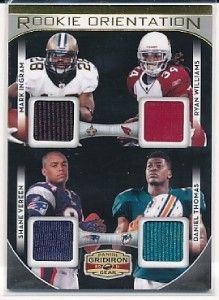 Shane Vereen Mark Ingram Williams Thomas Gridiron Gear Rookie