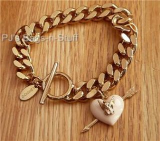 Disney Couture Tinkerbell Pink Heart Arrow Bracelet New